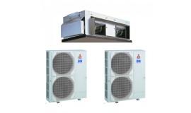 Duct Mitubishi Electric 130000 BTU inverter PEA-RP400GAQ + 2xPUHZ-P200YHA3